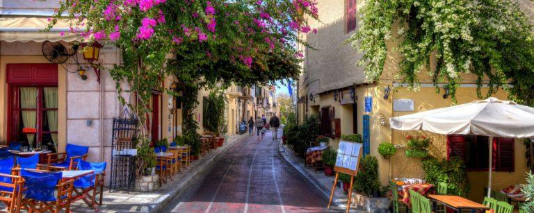 Walking tour in Plaka of Athens on a half day tour