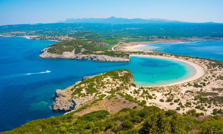 Voidokilia beach in Greece on a private tour